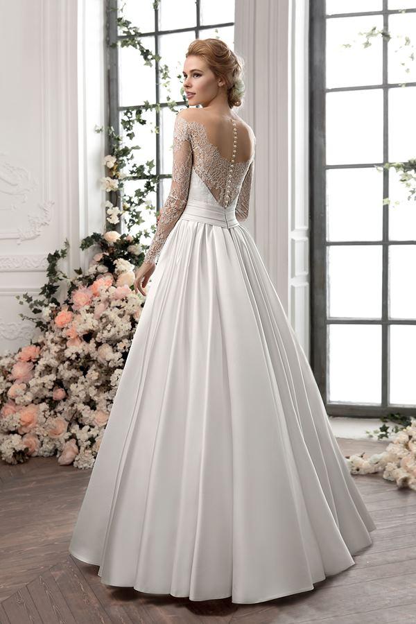 Свадебное кружевное платье а-силуэта